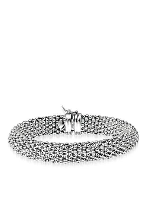 Belk & Co. Sterling Silver Popcorn Bracelet