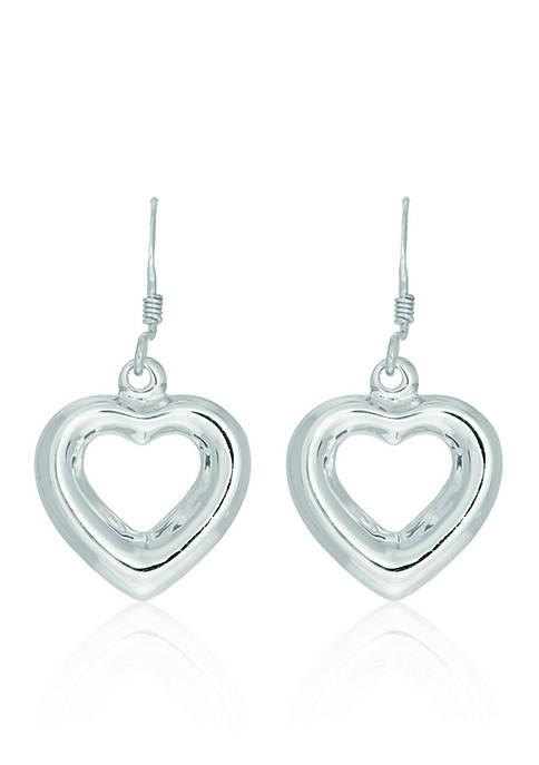 Belk & Co. Sterling Silver Open Heart Earrings