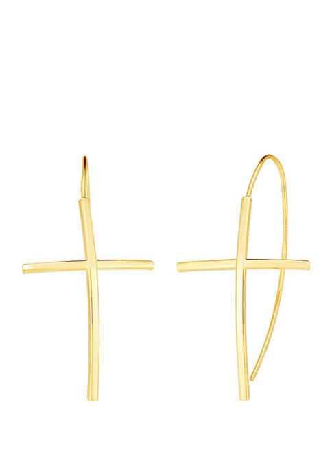 Cross Loop Earrings