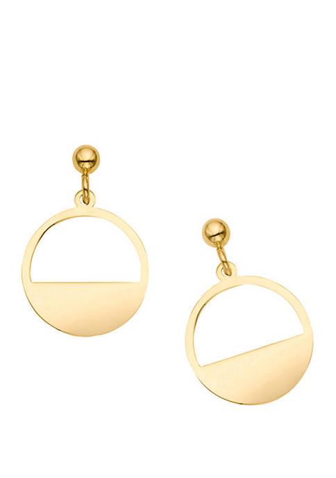 Belk & Co. Polished Post Drop Earrings