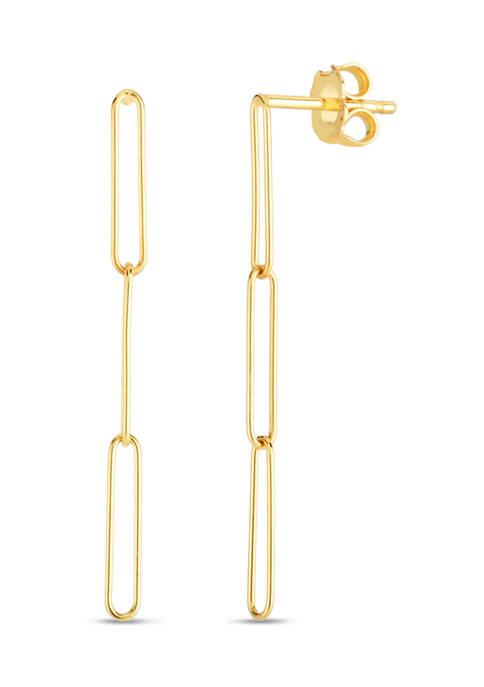 Belk & Co. Paperclip Drop Earrings