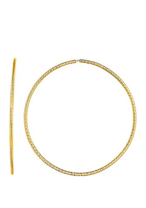 Belk & Co. Diamond Cut Hoop Earrings