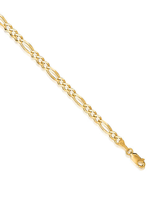 Belk & Co. 14k Yellow Gold Figaro Link