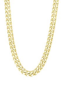 Belk & Co. Gold Semi Solid Miami Cuban Link Necklace