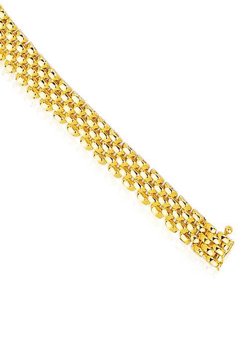 14k Yellow Gold Panther Bracelet