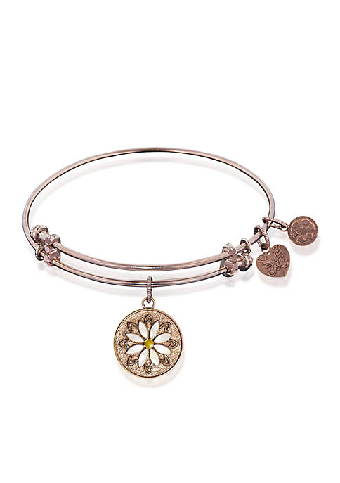 Angelica Daisy Flower Expandable Bangle