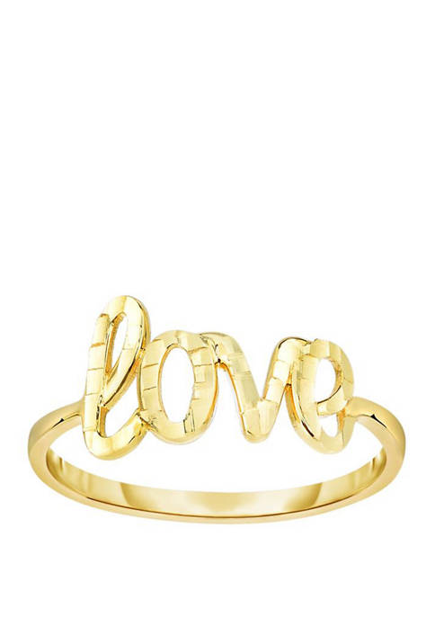 Love Ring in 14k Yellow Gold