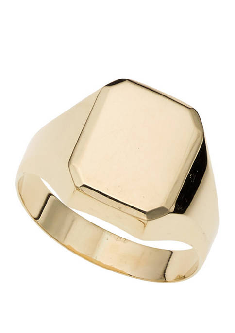 Polished Rectangle Ring in 14k Yellow Gold