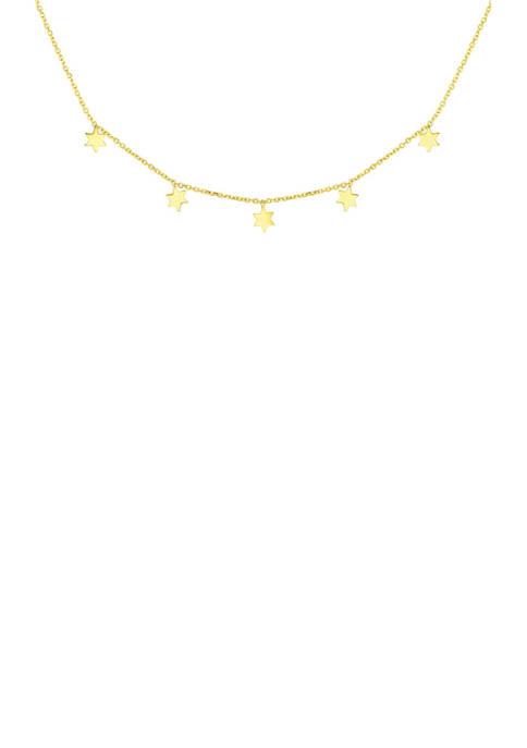 Belk & Co. Dangling Star Necklace in 14k