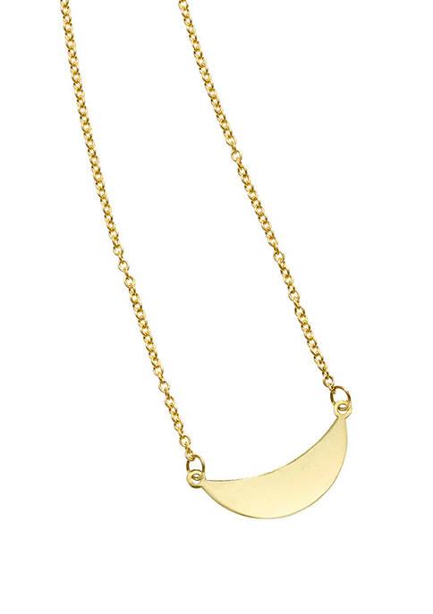 Belk & Co. Crescent Pendant Necklace in 14k
