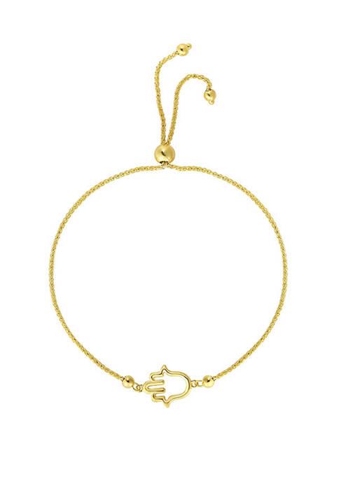 Belk & Co. Hamsa Adjustable Bracelet in 14k