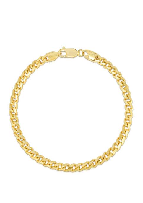 Belk & Co. Mens Gold Round Franco Bracelet