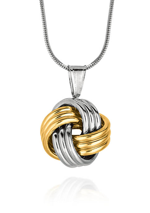 Belk & Co. Sterling Silver Love Knot Pendant