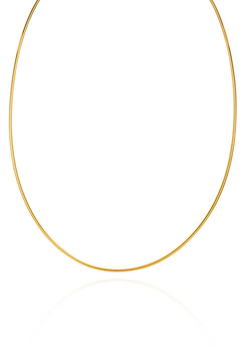 14k Yellow Gold 1.5mm Omega Necklace