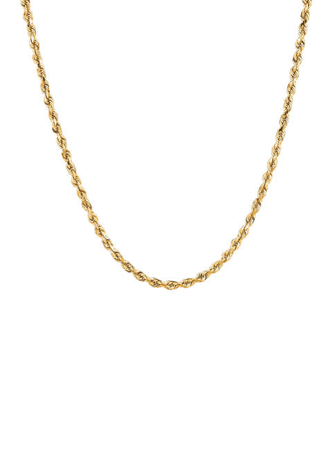 Belk & Co. Solid Rope Chain Necklace in
