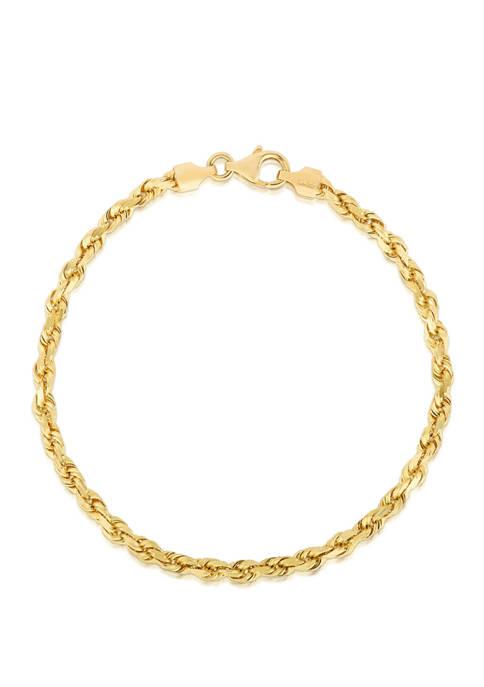 Belk & Co. Solid Rope Chain Bracelet in