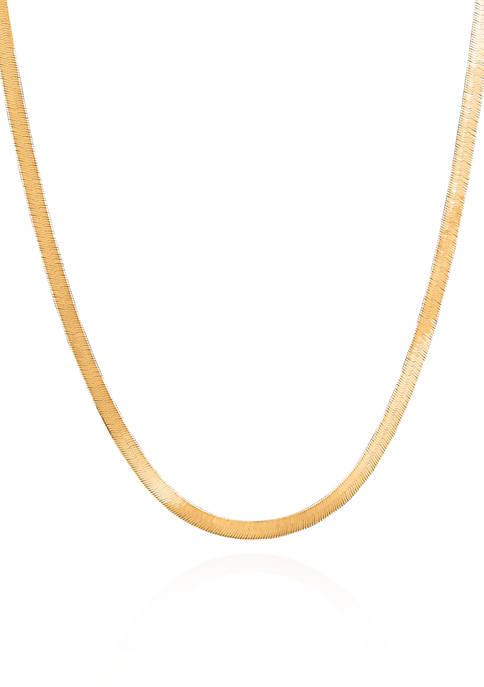 Belk & Co. 14k Yellow Gold Herringbone Necklace