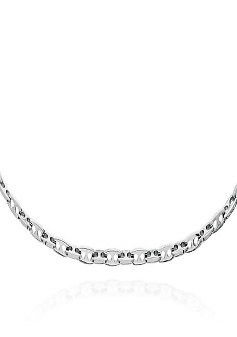 Belk & Co. Stainless Steel Bullet Link Necklace