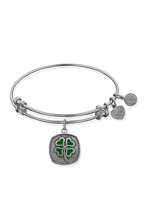 Angelica Four Leaf Clover Expandable Bangle