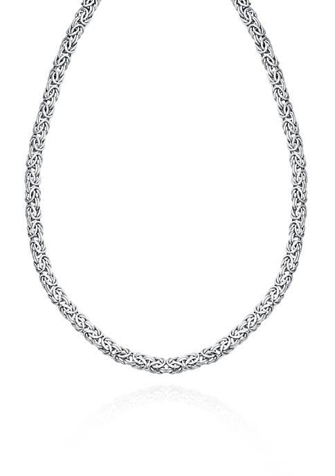 14k White Gold Byzantine Necklace