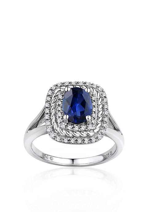 Belk & Co. Sterling Silver Sapphire and Diamond