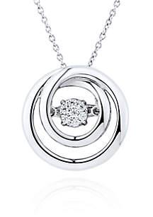 Move My Heart Diamond Accent Pendant in Sterling Silver