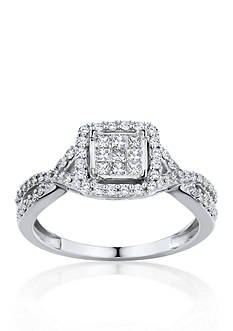 Belk & Co. 1 ct. t.w. Diamond Engagement Ring in 10k White Gold