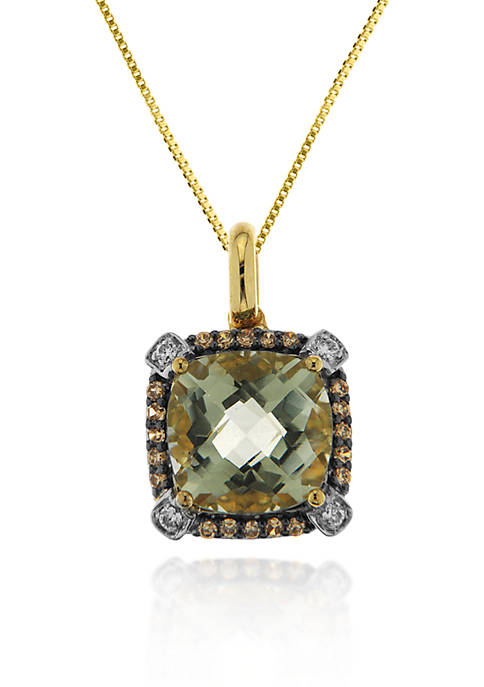 Belk & Co. 14k Yellow Gold Green Amethyst