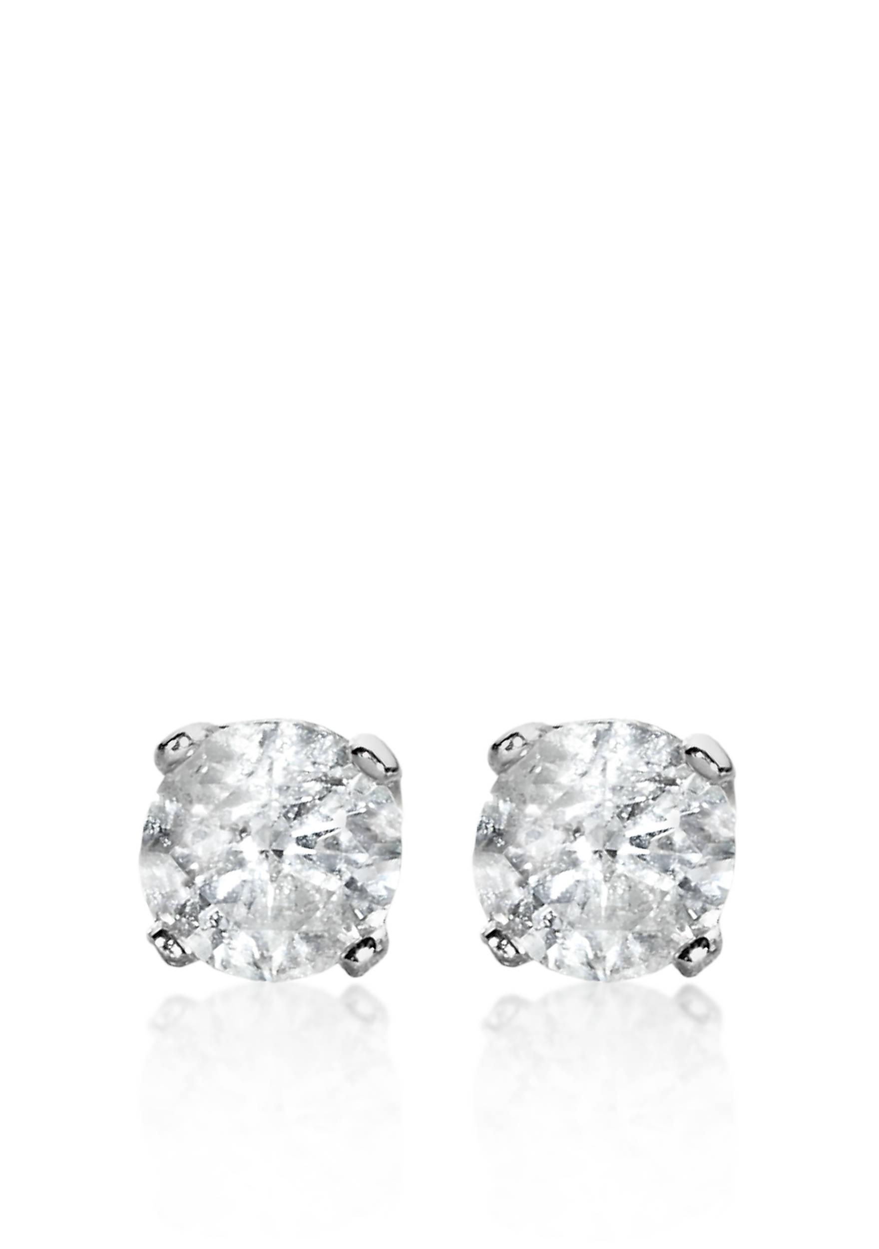 Belk & Co. 1/2 ct. t.w. Diamond Stud Earrings in 14k White Gold | belk