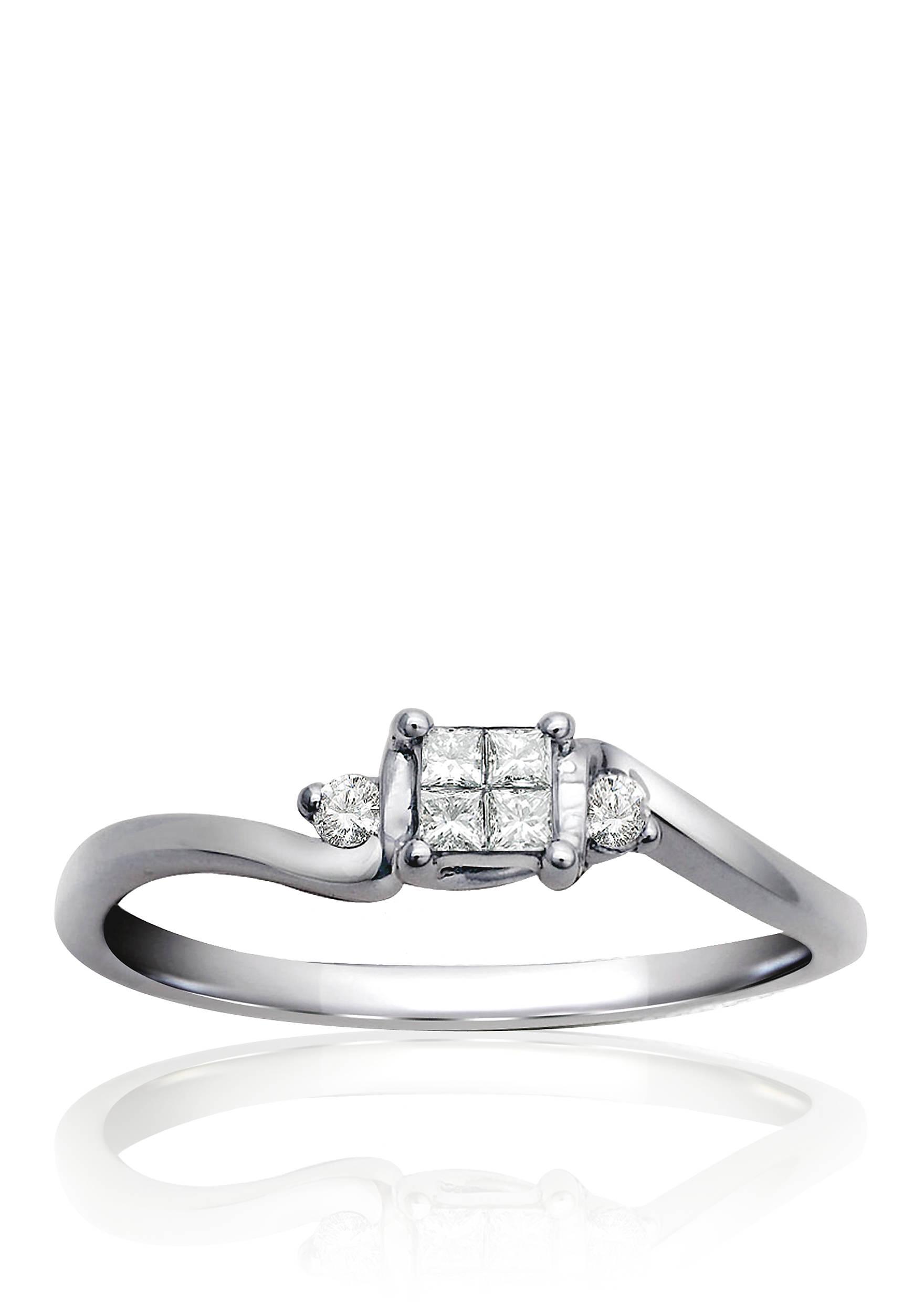 Belk & Co. Diamond Promise Ring in Sterling Silver | belk