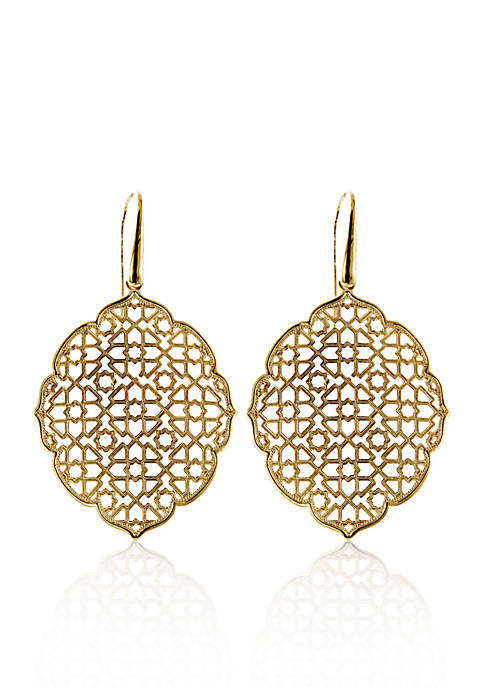 Belk & Co. 14k Yellow Gold Moorish Earrings