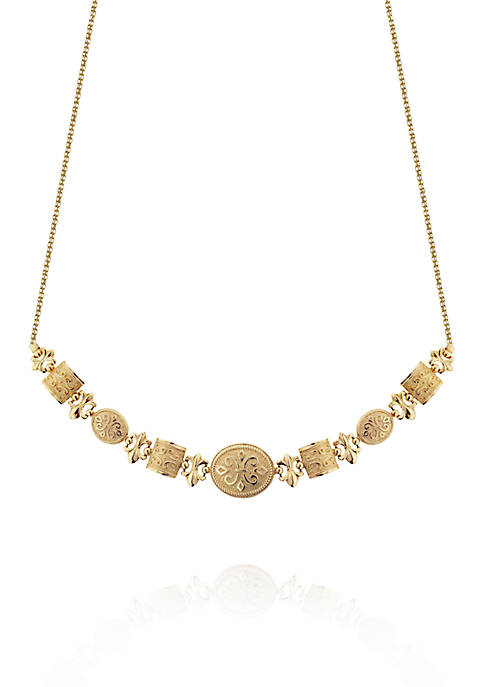 Belk & Co. 14k Yellow Gold Etruscan Necklace
