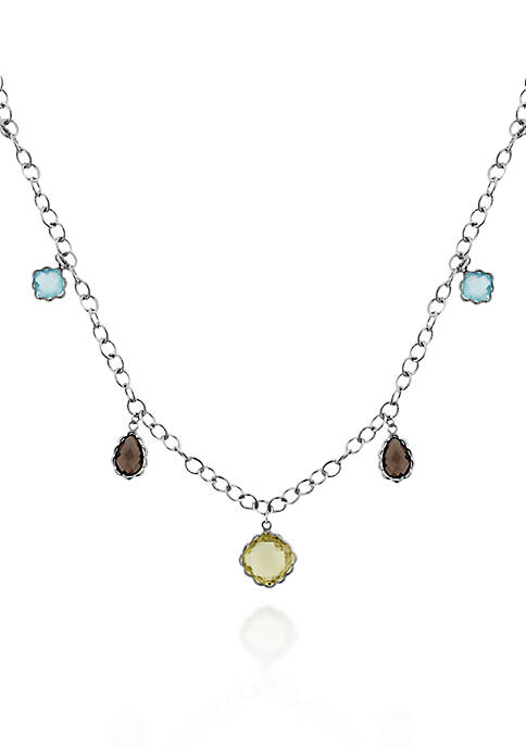 Belk & Co. Sterling Silver Multi Gemstone Necklace