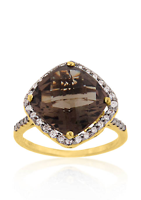 Belk & Co. 14k Yellow Gold Smokey Quartz