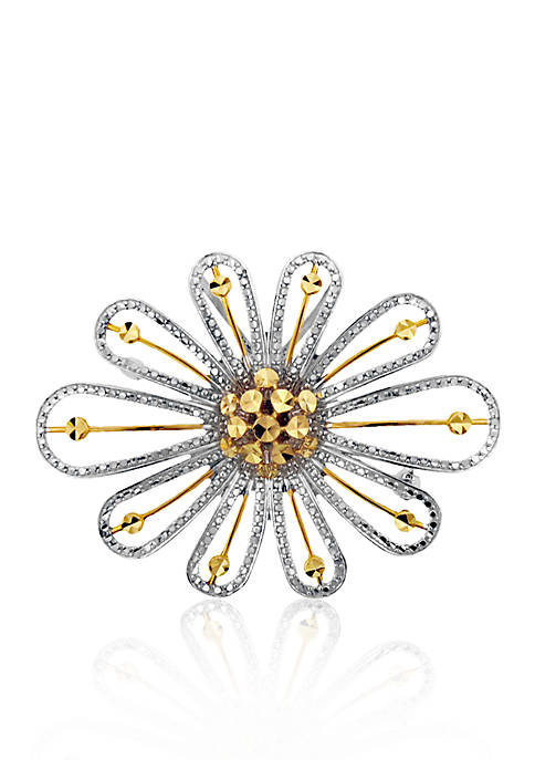 Belk & Co. 14k Two Tone Gold Flower
