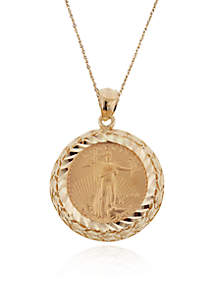 Belk & Co. 14k Yellow Gold Eagle Coin Pendant