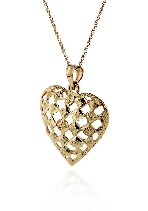 Belk & Co. 14k Yellow Gold Heart Pendant