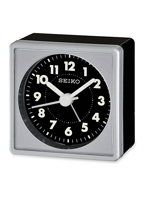 Metallic Bedside Alarm Clock