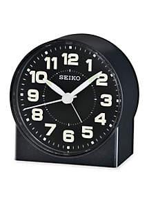 Black Metallic Bedside Alarm Clock