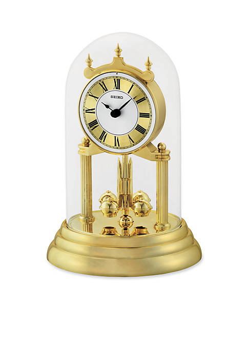 Brass Mantel Anniversary Clock