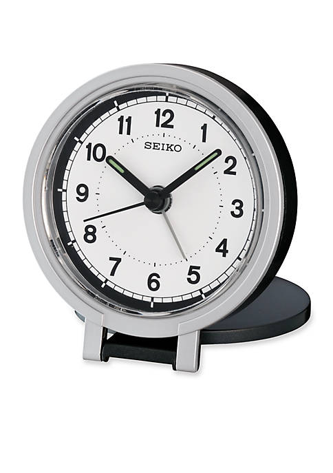 Seiko Black Metallic Travel Alarm Clock