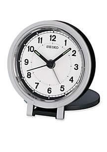 Black Metallic Travel Alarm Clock