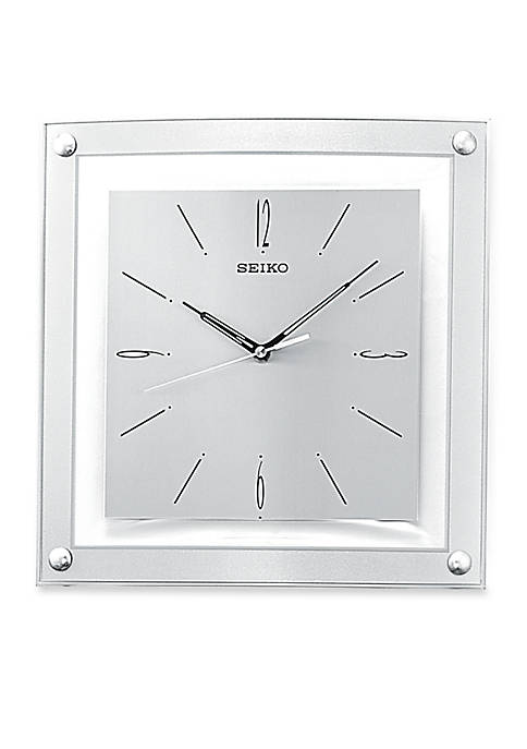 Silver Framed Out Wall Clock