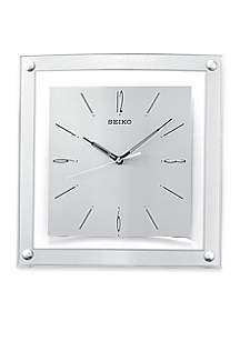 Silver Framed Out Wall Clock - Online Only