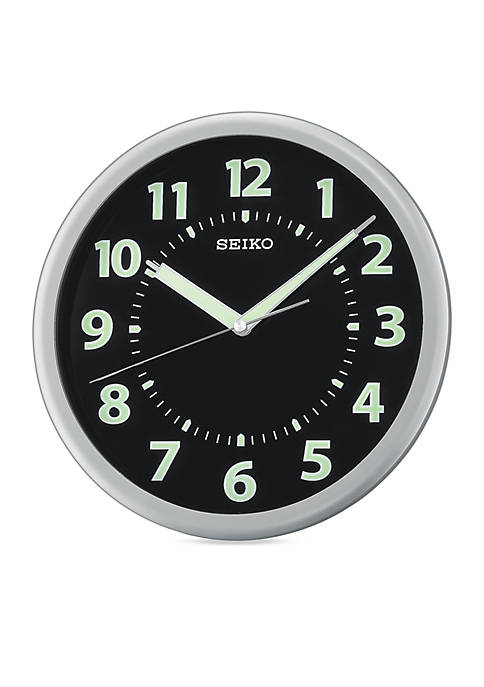 Silver Metallic Wall Clock