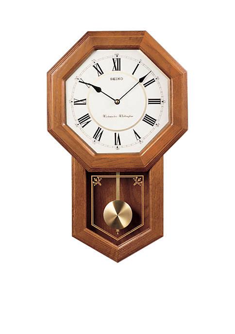 Oak Schoolhouse Wall Clock