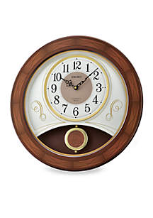 Wooden Melodies in Motion Wall Clock