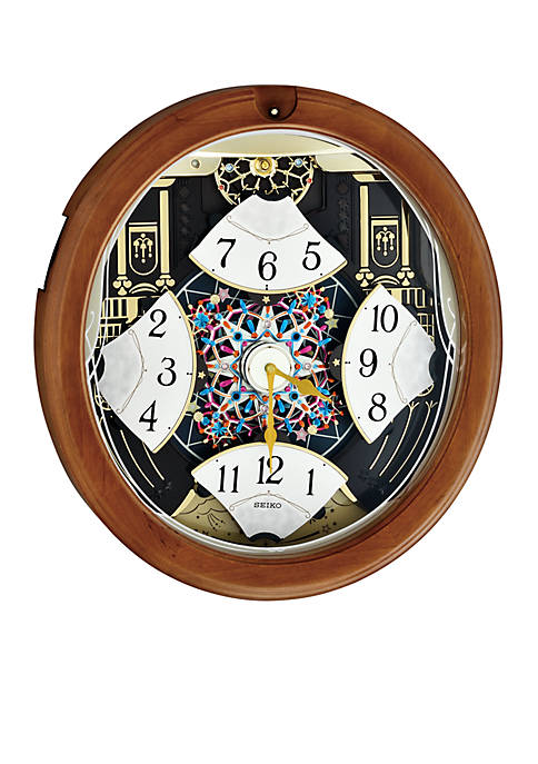 Brown Wooden Melodies in Motion Wall Clock