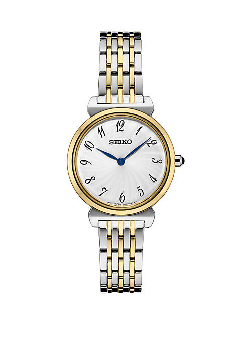Seiko 2 Tone Essential Watch With Silver Pattern