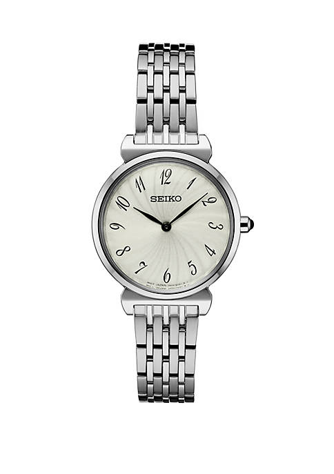 Seiko Stainless Steel Essential Watch With Silver Pattern